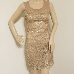 YA Sequin Lace Dress New With Tags